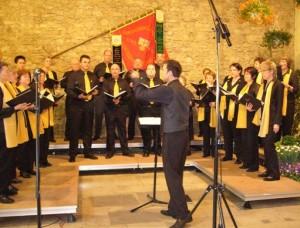 2008: Feuertaufe - das erste Vereinskonzert mit neuem Dirigent.